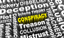 Conspiracy Word Collage Decept...