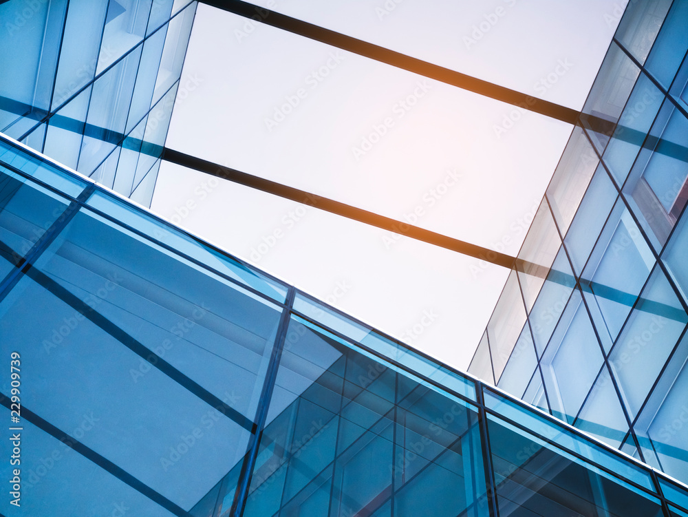 Fototapeta Architecture detail Glass Facade Modern Building Abstract Background