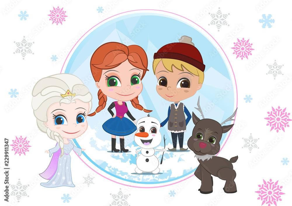 Fototapeta Ice Team Kids