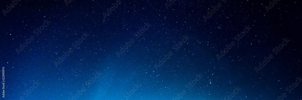 Fototapety, obrazy: Horizontal background of the night starry sky