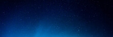 Horizontal Background Of The Night Starry Sky