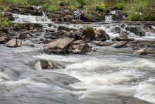 Falls Of Dochart Near Killin In Scottish Highlands, Long Exposure Photograph