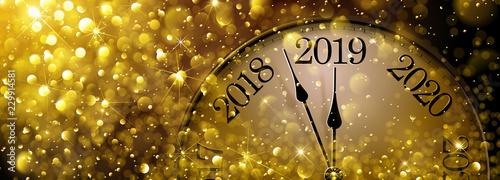 Obraz New Year s Eve 2019 Old Clock - fototapety do salonu