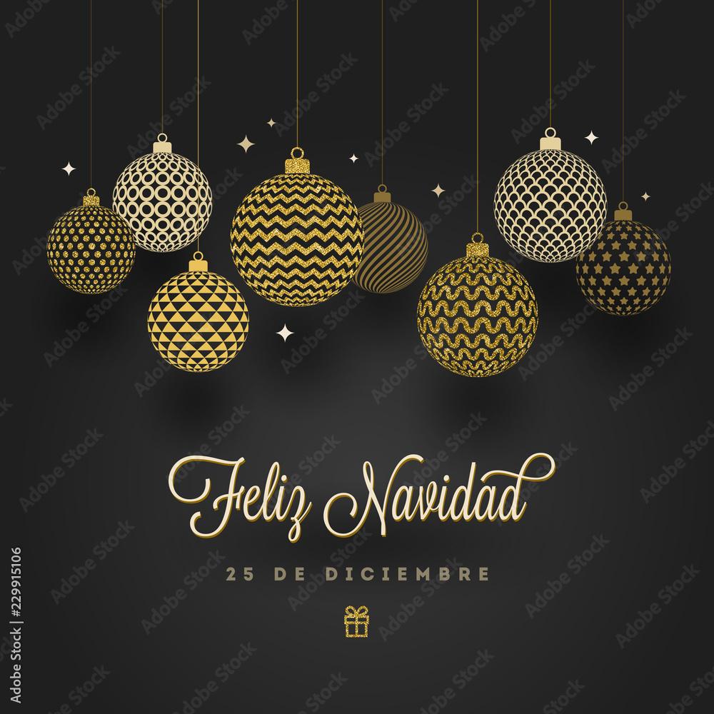 Christmas Wishes In Spanish.Photo Art Print Feliz Navidad Christmas Greetings In