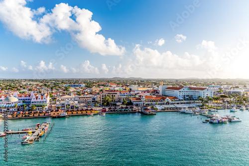 Oranjestad, Aruba Marina Wallpaper Mural