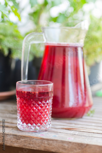 Fotografie, Obraz  Kompot z czerwonych owoców