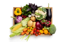 Fresh Organic Vegetables In Wo...