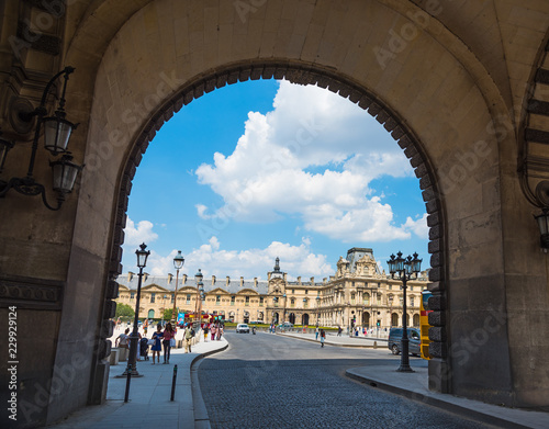 Stampa su Tela Arches in world famous Louvre museum