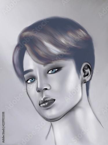 Fotografie, Obraz  Jimin digital illustration