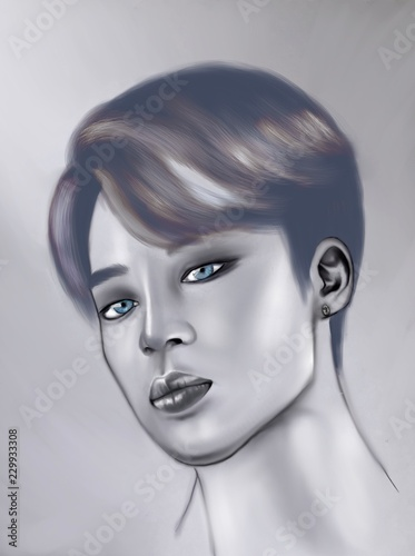 Photo  Jimin digital illustration