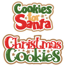 Vector Christmas Cookies For Santa Titles Christmas Illustrations