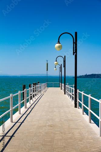 A Pier on the Trasimeno Lake, Italy
