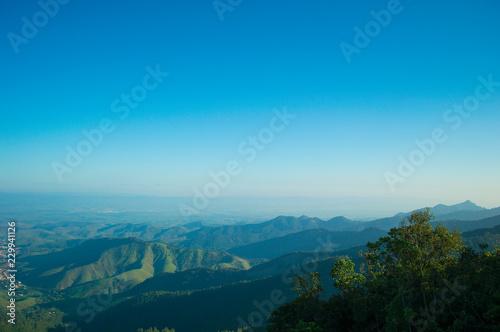 Deurstickers Blauw Paraiba Valley aerial landscape view.