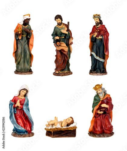 Fotografie, Obraz Ceramic figures for the nativity scene
