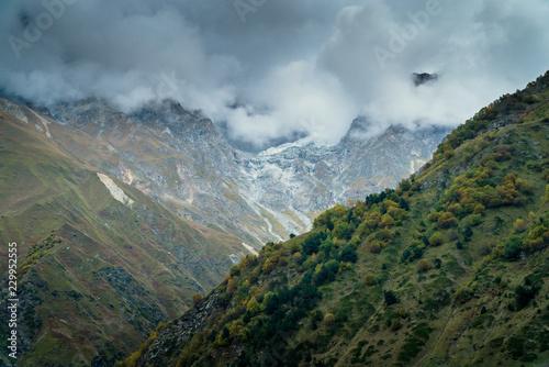 Landscape view of Caucasus mountains