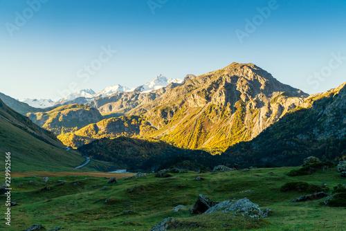 Foto op Aluminium Blauw Landscape view of Caucasus mountains