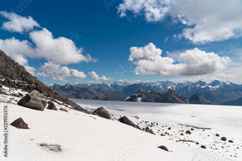 Foto op Canvas Wit Landscape view of Caucasus mountains