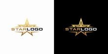 Modern Gold Star Logo Design V...