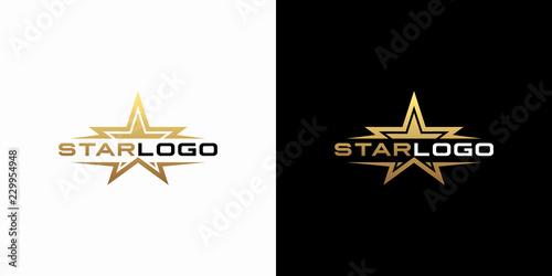 Fototapeta Modern gold star logo design vector. Stars logo design concept