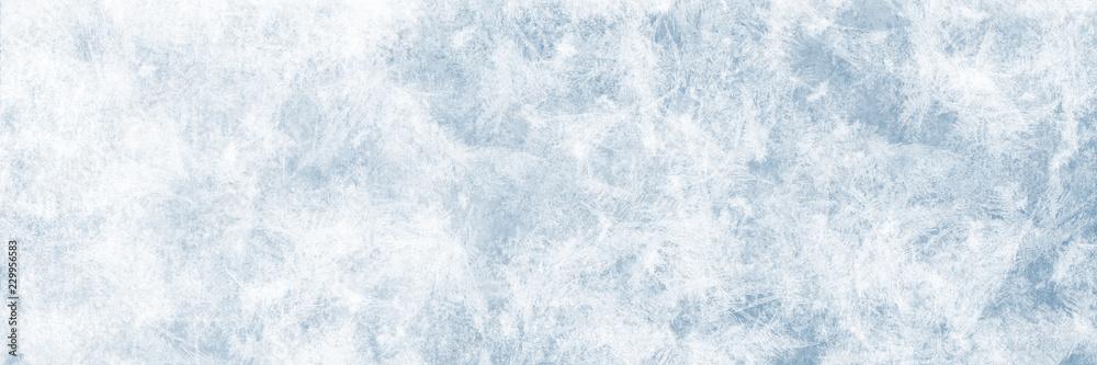 Fototapeta Textur blaues Eis, Winter Hintergrund für Werbeflächen