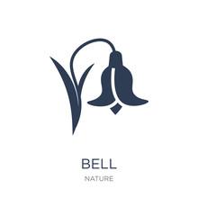 Bluebell Icon. Trendy Flat Vec...