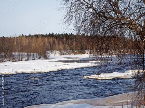 Staande foto Rivier river in Karelia