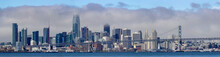 View Of San Francisco Skyline On A Foggy Day