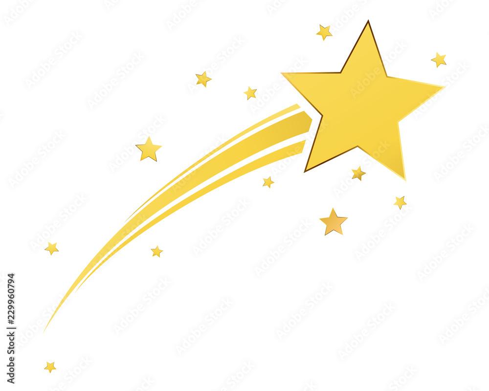 Fototapety, obrazy: Gold shooting star
