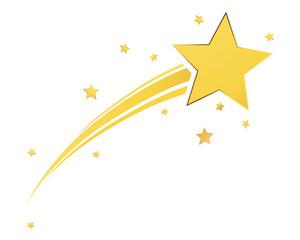 Gold shooting star