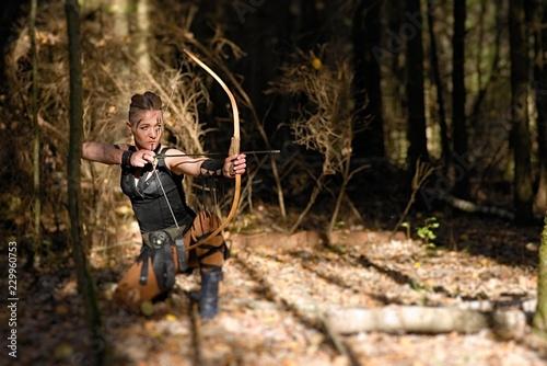 Archer warrior dress cosplay Canvas Print