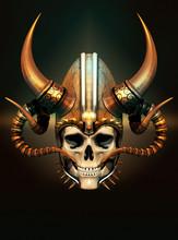 Viking Skull, 3d CG