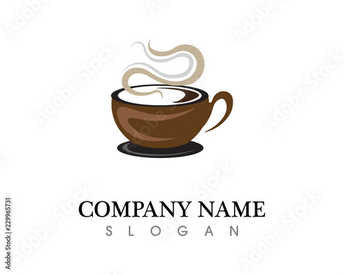 Valokuva Coffee cup Logo Template vector icon design