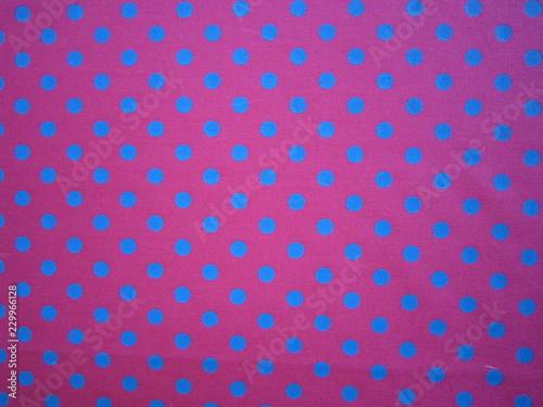Fotografie, Obraz  Tupfenstoff pink-blau