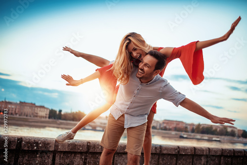 Stampa su Tela Lovely happy couple