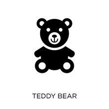Teddy Bear Icon. Teddy Bear Symbol Design From Birthday And Party Collection.