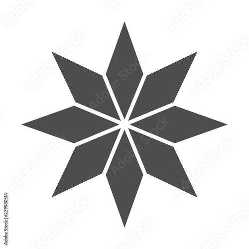 Eight-pointed star solid icon. Christmas tree star vector illustration isolated on white. Xmas decoration glyph style design, designed for web and app. Eps 10. Fototapete