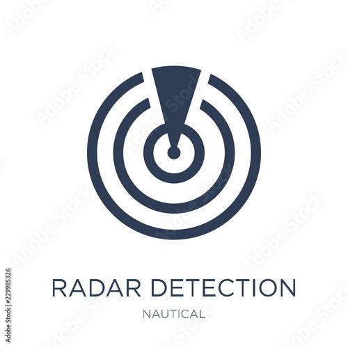 Radar detection icon Canvas Print