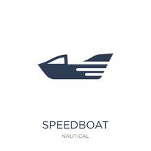 Speedboat Icon. Trendy Flat Ve...