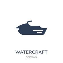 Watercraft Icon. Trendy Flat Vector Watercraft Icon On White Background From Nautical Collection