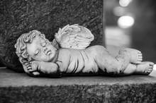 Closeup Of Stoned Angel Sleepi...