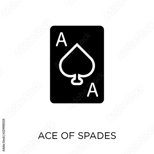 Photo  Ace of spades icon