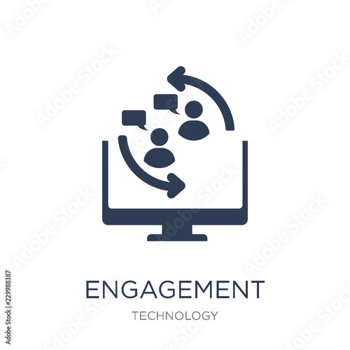 Obraz na plátně  Engagement icon