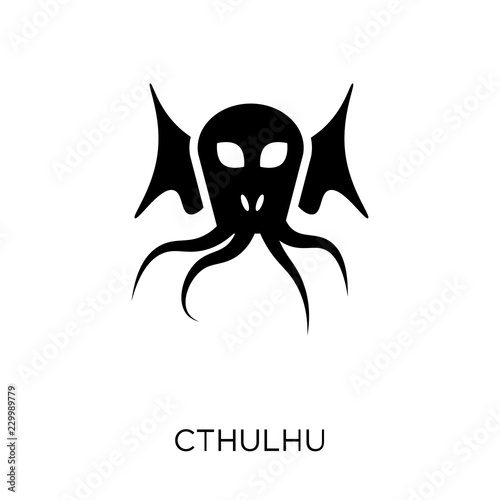 Cthulhu icon. Cthulhu symbol design from Fairy tale collection. Canvas Print