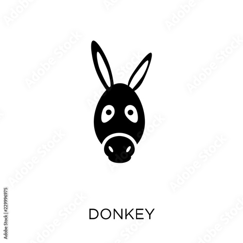 Cuadros en Lienzo Donkey icon. Donkey symbol design from Animals collection.