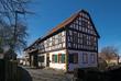 In der Altstadt von Münzenberg, Wetterau, Hessen, Deutschland
