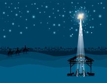 Christmas Desert Scene With Ho...