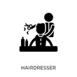 Hairdresser icon. Hairdresser symbol design from Professions collection.