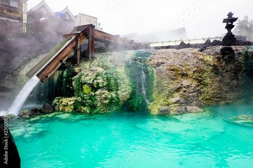 Keuken foto achterwand Groene koraal 草津温泉の源泉