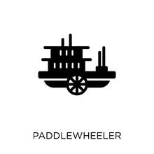 Paddlewheeler Icon. Paddlewhee...