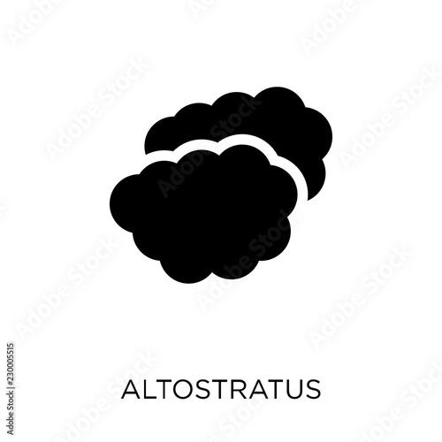 Photo altostratus icon
